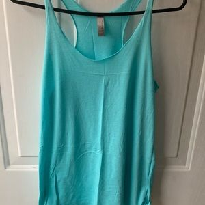 Turquoise blue tank top